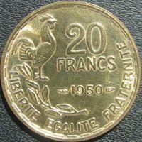 1k Франция 20 франков 1950 GEORGES GUIRAUD В ХОЛДЕРЕ распродажа коллекции