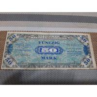 Германия 50 марок 1944 союзная оккупация