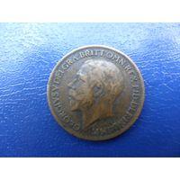 Великобритания 1 фартинг(1/4 пенни) 1917 г.
