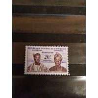 1962 Камерун президент Ахиджо и премьер министр Фонча дорогая чистая без клея без дыр(1-11)