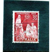 Австралия.Ми-286. Рождество - Поклонение Христа. Серия: 1958 Рождество.