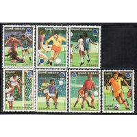 Спорт Футбол Гвинея Биссау 1988 год серия из 7 марок