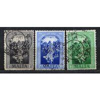 Живопись. Догма о непорочном зачатии. Мальта. 1954. Полная серия 3 марки