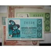 Лотереи Испания 1964-1965 гг. 5 штук. Цена за все (d)