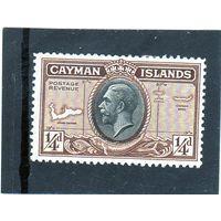 Каймановы острова. Ми-86.Король Георг VI. Карта островов.1935