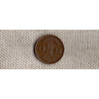 Германия 1 пфенниг 1924 G рейхспфенниг(Ab)