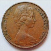 2 цента Австралия 1966г.