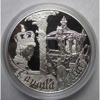 Канада, доллар, 2002, серебро, пруф