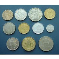 Лот из 11-ти монет Испании без повторов