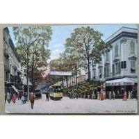 Ницца. Вокзальный проспект (Avenue de la Gare). Старинная открытка. Чистая.