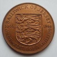 "Джерси 1/12 шиллинга 1966 ""Королева Елизавета II"""