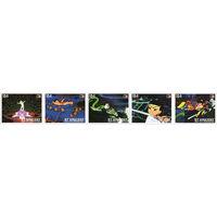 Китайское аниме Сент-Винсент и Гренадины 1996 год чистая серия из 10 марок в 2-х сцепках