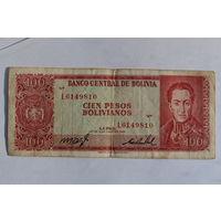 Боливия, 100 песо 1962 год.