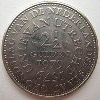 Нидерланды 2,5 гульдена 1979 г. 400 лет Утрехтской унии (d)