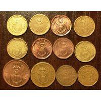 ЮАР /Южная Африка/, 5, 10, 20 центов, надписи на всех языках страны, 100% полный набор надписей одним лотом