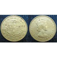 W: Ямайка 1/2 пенни 1955, пол (49)