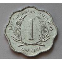 Восточные Карибы 1 цент, 1999 г.