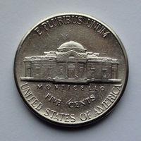 США 5 центов. 1996. P. Jefferson Nickel