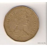 Канада, 1 dollar, 1989г