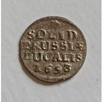 Солид 1693 HS  Фридрих III редкий и в качестве.
