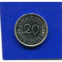 Маврикий 20 центов 2007 UNC