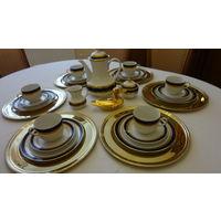 """Сервиз чайный на 6 персон кобальт с позолотой ,Германия,баварская фирма """"Винтерлинг"""" 21 предмет."""