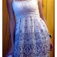 Стильное 2-х слойное платье
