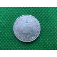 Редкая и очень большая серебрянная монеты Афганистана, 5 рупий 1314 года (1896).