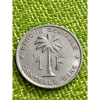 Конго бельгийское 1 франк 1960