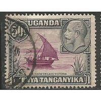 Кения Уганда и Танганьика. Король Георг V. Парусник. 1935г. Mi#37.
