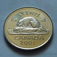 5 центов, Канада 2001 P, магнит, UNC
