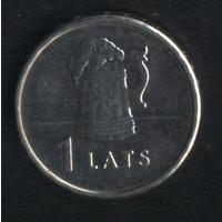 Латвия 1 лат 2011 г. Пивная кружка (*). Сохран!!!