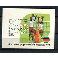 Мадагаскар (Малагаси) - 1992 - Летние олимпийские игры - [Mi. bl. 191] - 1 блок. MNH.