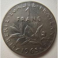 Франция 1 франк 1965 г.