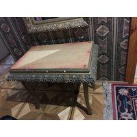 Банкетка старинная столик СССР под реставрацию