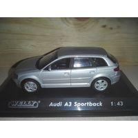 Audi A3 Sportbak.1:43.(Премиум -комплектация от Welly)