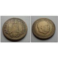 1 песета 1947 (56) Испания, KM# 775 PESETA, РЕДКАЯ, из коллекции