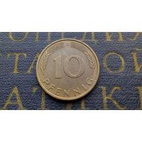 10 пфеннигов 1989 (G) Германия ФРГ #04