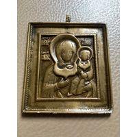 Иконка. Смоленская Богородица с цатой.