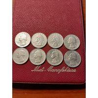 25 центов США (1965-1998). На Ваш выбор любая монета.