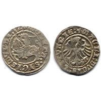 Полугрош 1512, Жигимонт Старый, Вильно. Окончания легенд: Ав - '(15):1Z', Рв - 'LITVANIE:'. Штемпельный блеск, коллекционное состояние