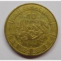 Центральная Африка 10 франков 2006 г