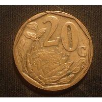 Южная Африка. ЮАР. 20 центов 2007 год
