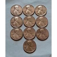 1 цент США, погодовка 1970-х
