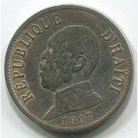 ГАИТИ - 20 САНТИМ 1907