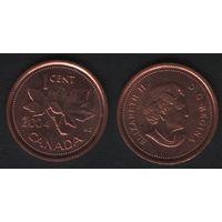Канада _km490 1 цент 2004 год km490 не магнит (f32)*