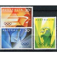 Австралия. Летние олимпийские игры - Лос Анжелес (серия 3 марки)