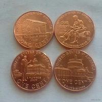 """1 цент, США 2009 г., комплект """"200 лет со дня рождения А. Линкольна"""""""