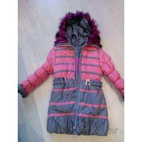 Пальто для девочки 122-128
