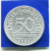 Германия 50 пфеннигов 1921 А